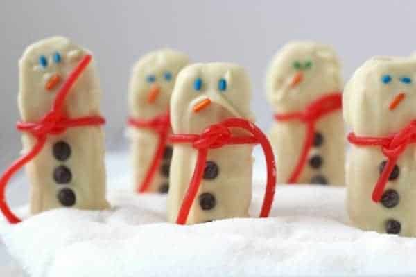 Easy Snowman Sandwich Cookies on RachelCooks.com