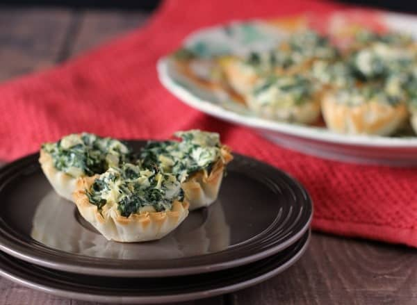 Easy Spinach Artichoke Phyllo Bites on RachelCooks.com