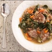 ITALIAN MEATBALL AND KALE SOUP from Branappetit.com