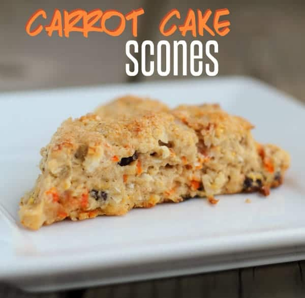 These carrot cake scones would make a great breakfast or brunch treat. Carrots, cinnamon, walnuts and coconut make these delightful scones a true winner. Get the scone recipe on RachelCooks.com!