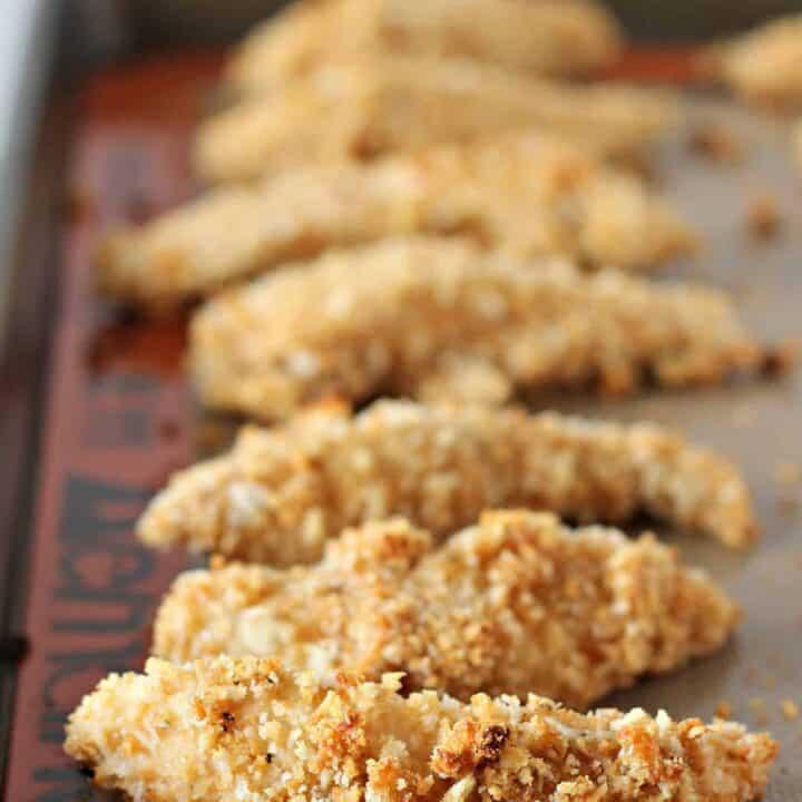 Chicken Caesar Chicken Tenders on RachelCooks.com