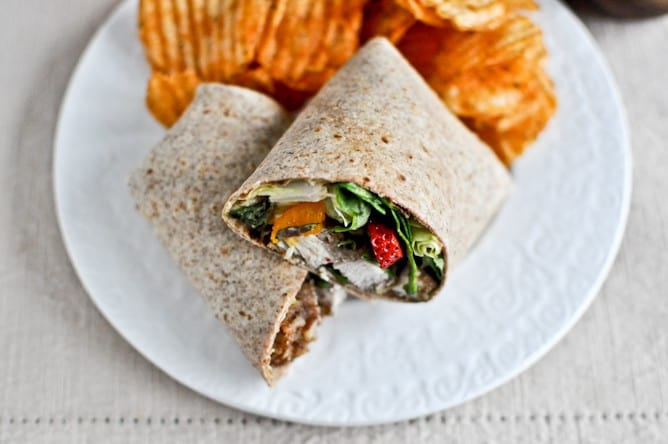 Pecan Crusted Chicken Wrap from HowSweetEats.com
