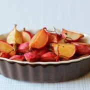 how to roast radishes -- find out on rachelcooks.com