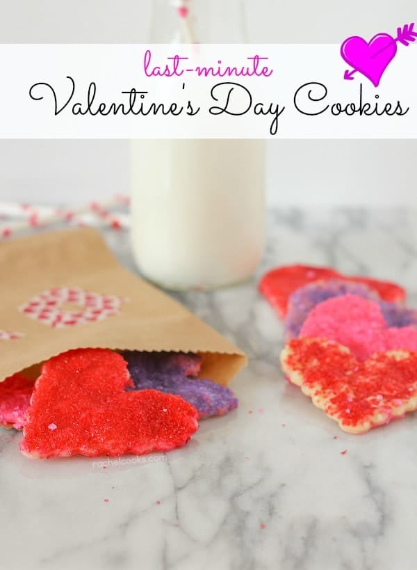 Easiest EVER Valentine's Day Cookies on RachelCooks.com