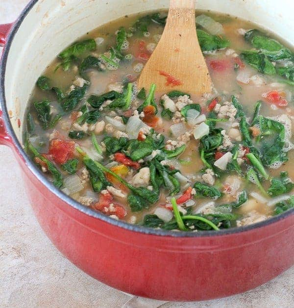 20 Minute Turkey And Bean Soup Healthy Soup Recipe With Video