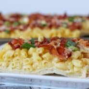 Macaroni and Cheese Pizza -- Find the recipe on RachelCooks.com