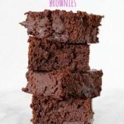 Brownies made lighter using black beans! Get the recipe on RachelCooks.com