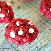 Red Velvet Gooey Butter Cookies from Buns in my Oven