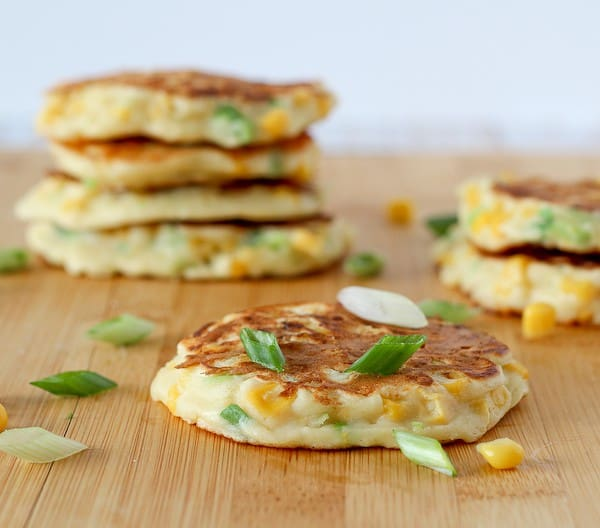 Savory Corn Cakes on RachelCooks.com