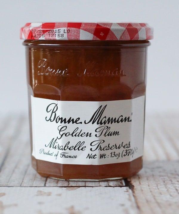 Image of a jar of Bonne Maman Golden Plum Mirabelle Preserves.