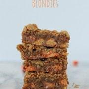 Above the Rim Peanut Butter Cup Blondies on RachelCooks.com