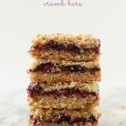 Blackberry Blueberry Crumble Bars on RachelCooks.com