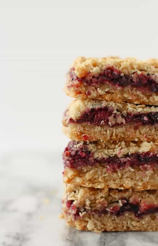 blackberry blueberry crumb bars on Rachel Cooks