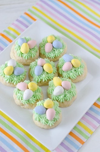 Easter Nest Sugar Cookies from SeededatTheTable.com