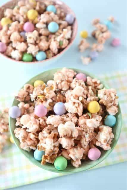 Salted Caramel Easter Popcorn from TwoPeasandTheirPod.com