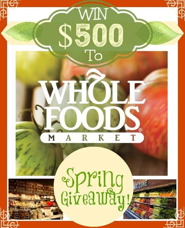 whole foods gift card giveaway