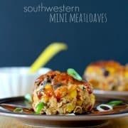 Southwestern Mini Meatloaf Recipe on RachelCooks.com