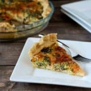 roasted broccoli quiche on rachelcooks.com