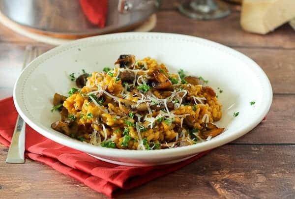 Roasted Mushroom Risotto Recipe on RachelCooks.com