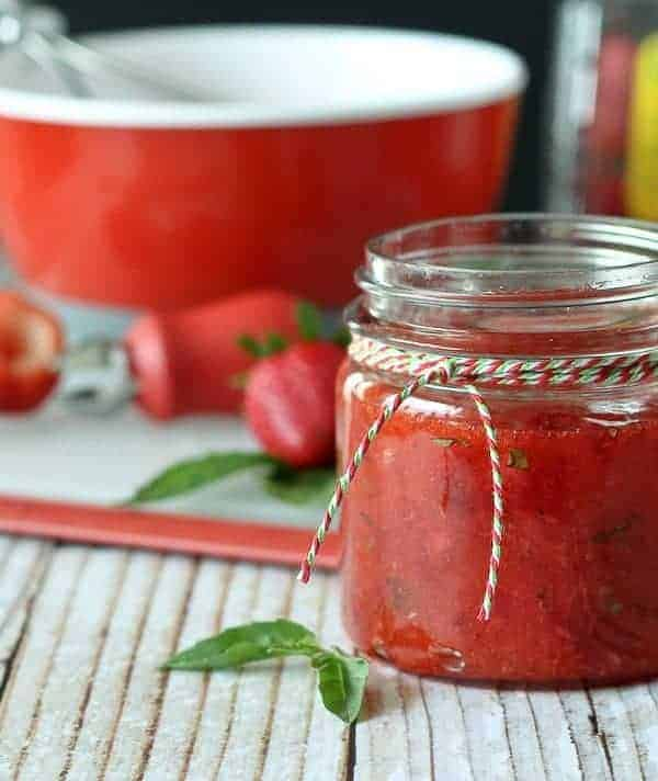 Strawberry Basil Freezer Jam (VIDEO)