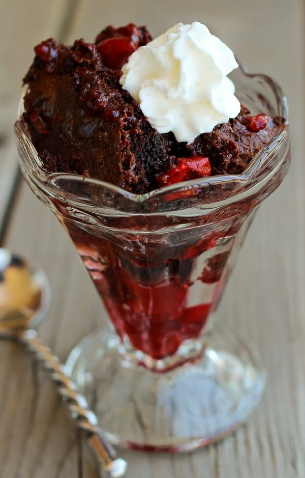 Black Forest Dump Cake Recipe with Cherries and Chocolate on RachelCooks.com
