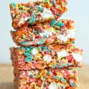 Fruity Pebbles No-Bake Bars on RachelCooks.com