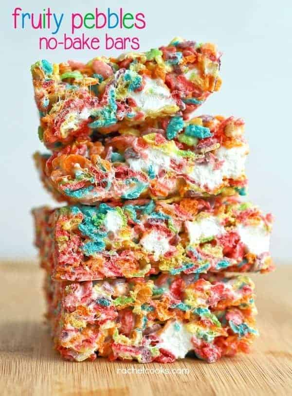 Fruity Pebbles No-Bake Bars on RachelCooks.com