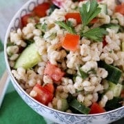 Barley Salad with Cucumbers and Tomatoes - RachelCooks.com
