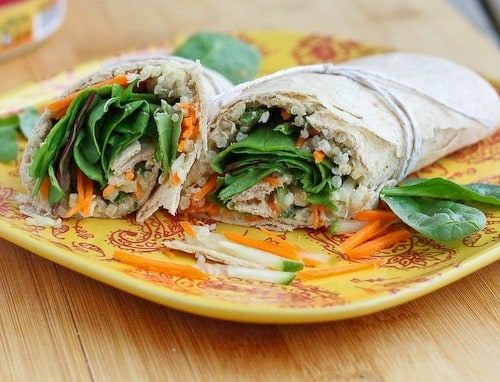 Quinoa Hummus Wrap on RachelCooks.com