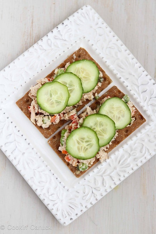 Low Fat Salmon Salad Sandwich from CookinCanuck.com