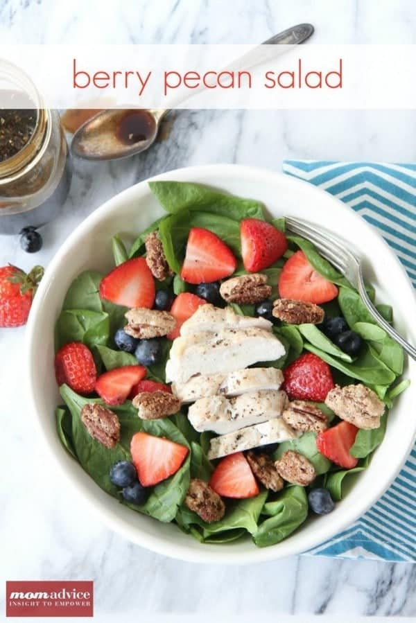 Berry Pecan Salad from MomAdvice.com
