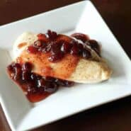 Chicken Breasts with Maple Cranberry Sauce - find the recipe on RachelCooks.com