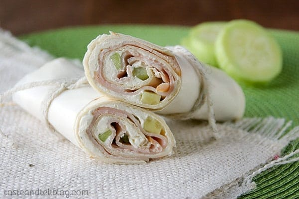Cucumber Ranch Turkey Wraps from Taste and Tell