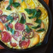 Heirloom Tomato Polenta Quiche - find the recipe on RachelCooks.com