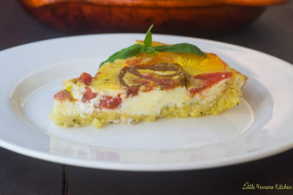 Perfect for brunch, everyone will love this colorful polenta quiche ...