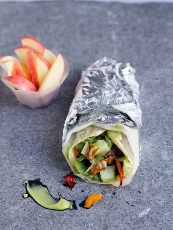 Honey Avocado Wrap on OhSweetBasil.com
