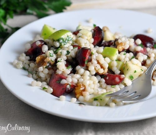 Israeli Couscous with Cherries and Apples - Find VeryCulinary.com's recipe on RachelCooks.com