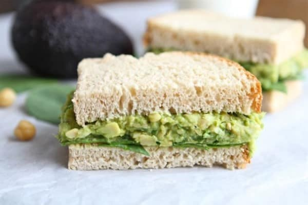 Smashed Chickpea and Avocado Sandwich on TwoPeasandTheirPod.com