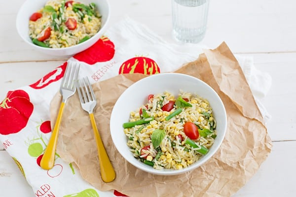 Summer Orzo Salad on OhMyVeggies.com