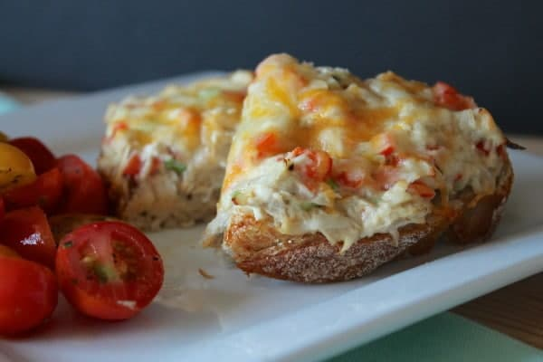 Open Faced Tuna Melt from Eat-Your-Heart-Out.Net