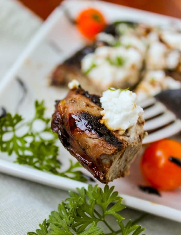 Goat Cheese Steak with Balsamic Glaze - Rachel Cooks®
