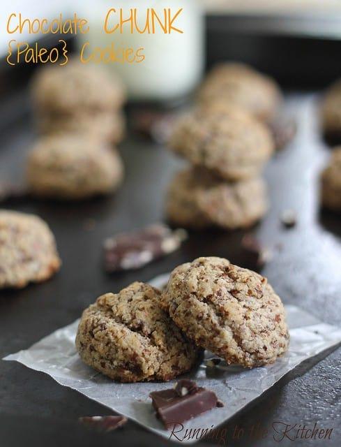 chocolate chunk paleo cookies