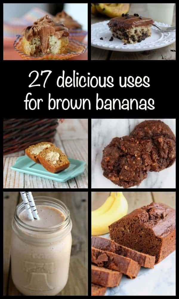 27 great uses for those brown bananas on your counter!