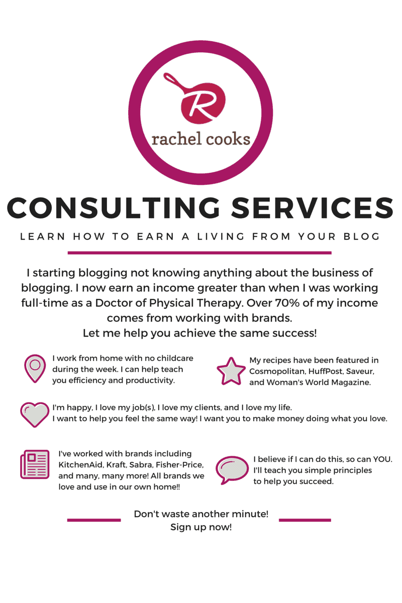 Consulting Services - Rachel Cooks®