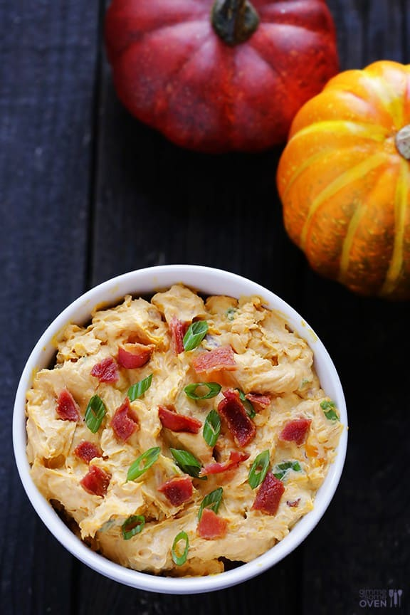 Savory Pumpkin Dip from GimmeSomeOven.com