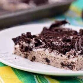Oreo Cookie Bars - on RachelCooks.com