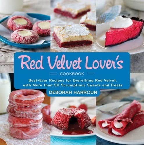 The front cover of Red Velvet Lover's Cookbook by Deborah Harroun.