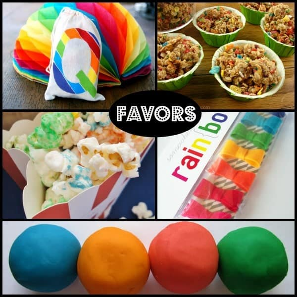 Favor Ideas for a rainbow themed birthday party - on RachelCooks.com