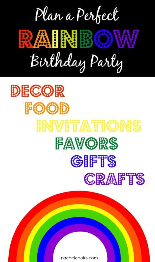 Rainbow Birthday Party Ideas - RachelCooks.com
