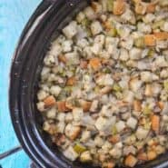 Slow Cooker Stuffing Recipe on RachelCooks.com